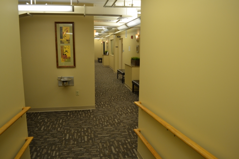 First floor hallway to Childcare, Pilates, APC and Group Cycle